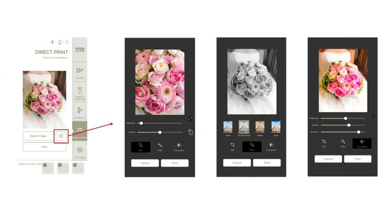 Képszerkesztés közvetlen nyomtatás funkcióban!