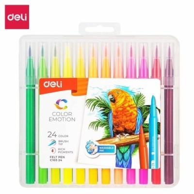 DELI Color Emotion Ecsetfilc készlet – 24 db