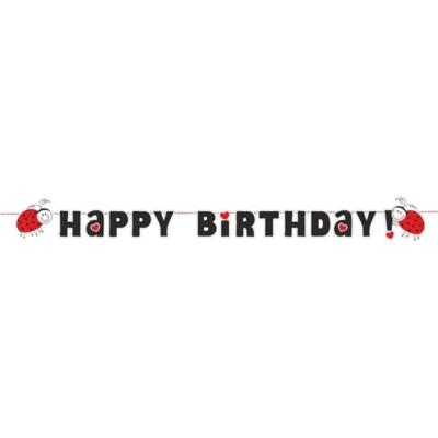 Katicabogár Happy Birthday zászlófüzér