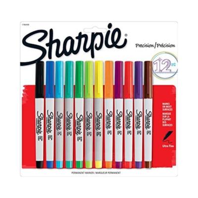 Sharpie ultra fine színes alkoholos tűfilc készlet (12 db)