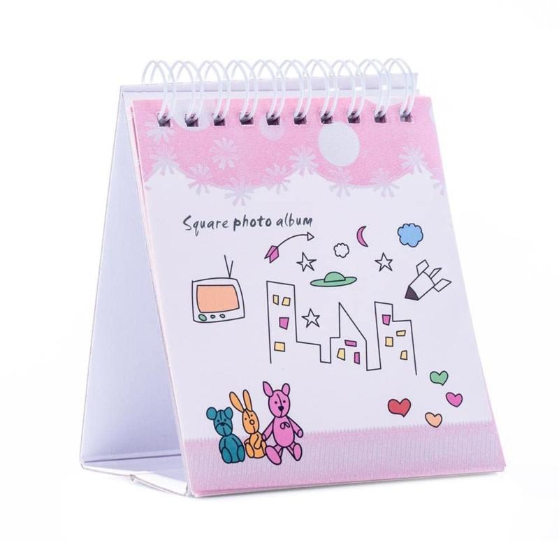 Instax square gyurus asztali album pink 02
