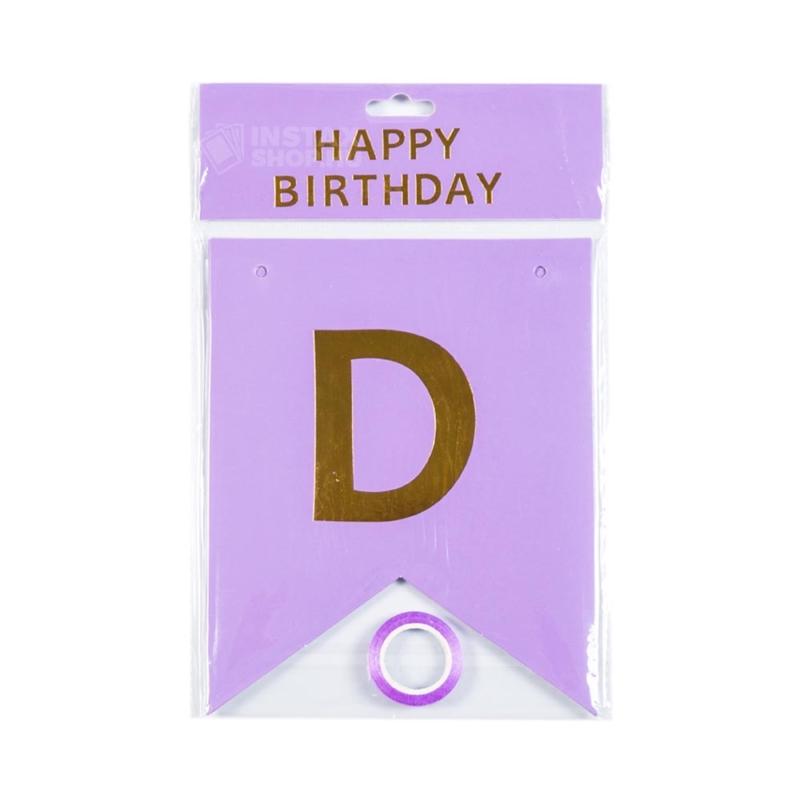 Happy birthday szülinapi zaszlofuzer lila instaxshop webaruhaz 02