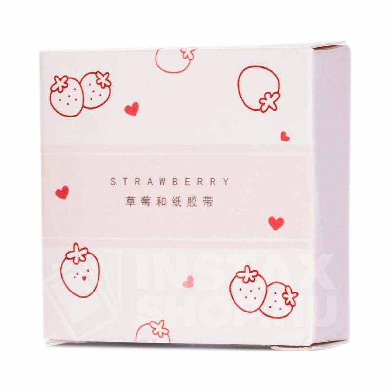 Washi Tape Öntapadós Ragszalag - Strawberry