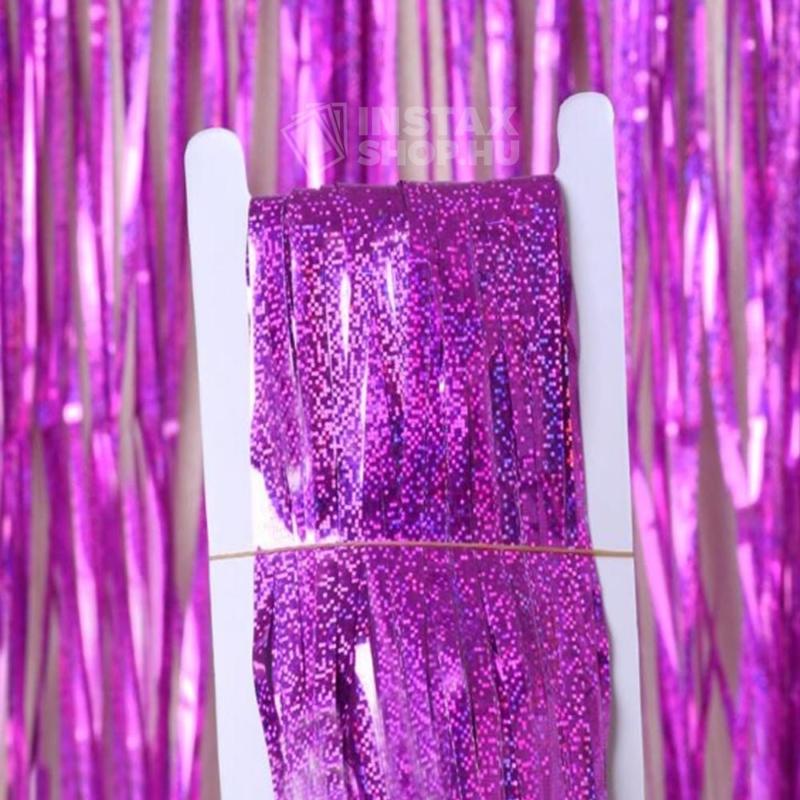 Glitteres party fuggony fotohatter lila instaxshop webaruhaz 01