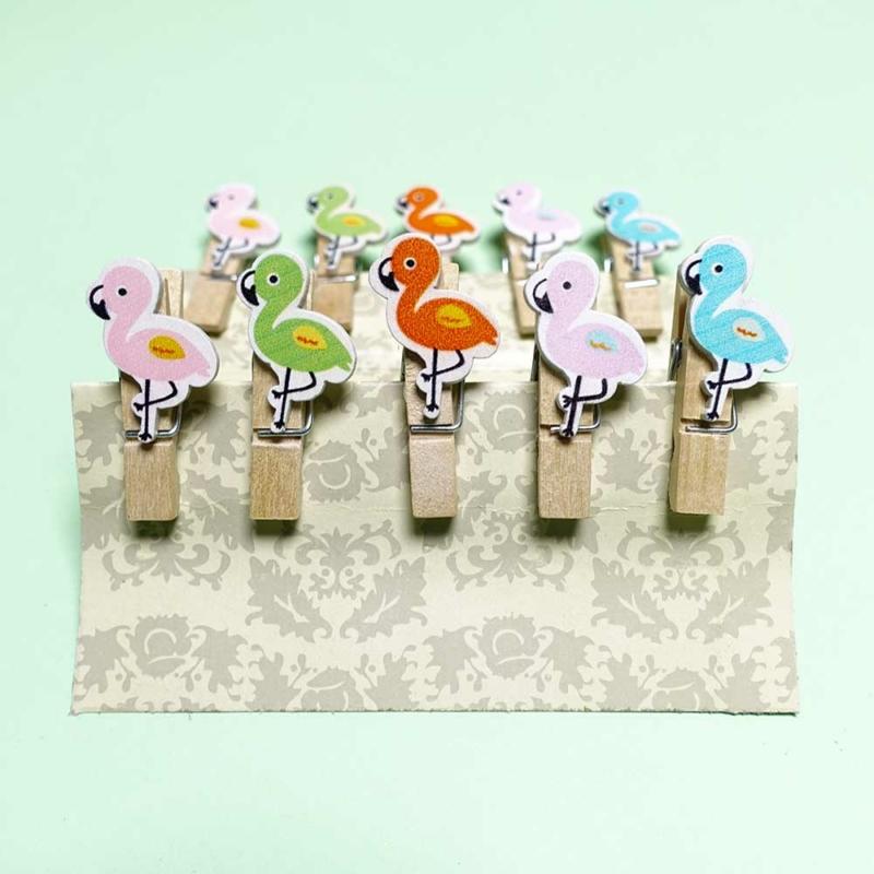Flamingó mintás Instax dekor csipesz